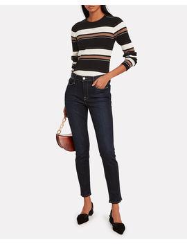 Striped Knit Crewneck Sweater by Frame