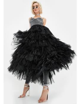 Lilith Tulle Maxi Skirt by Shrine