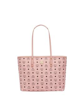 Mcm Anya Top Zip Shopper Visetos Medium Soft Pink by Stock X
