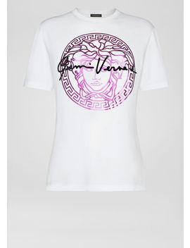 Medusa Signature Motif T Shirt by Versace