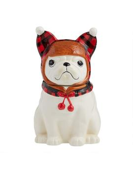 Trapper Hat French Bulldog Cookie Jar by World Market