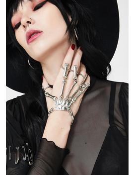 Death Grip Skeleton Hand Cuff by Dolls Kill