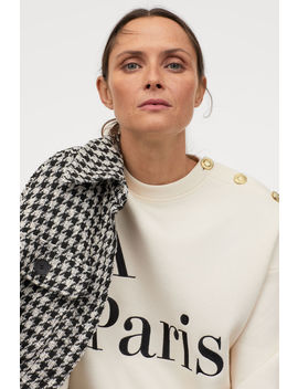 Sweatshirt With Text Design by H&M