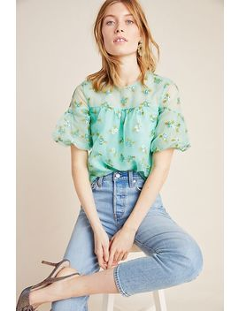Sabine Beaded Blouse by Anthropologie