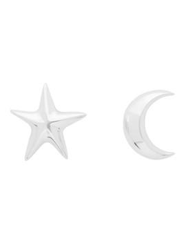 Silver Moon & Star Earrings by Sophie Buhai