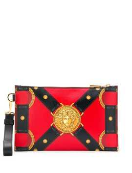 Harness Print Pouch by Versace