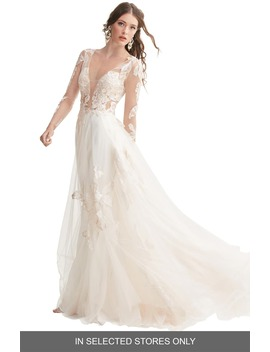 Rhapsody Lace & Tulle A Line Wedding Dress by Willowby