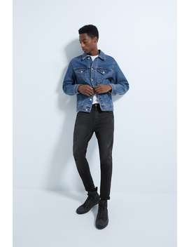 Tapered Fit Ripped Skinny Jeans by Zara