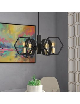 Themis 5 Light Candle Style Geometric Chandelier by Wrought Studio