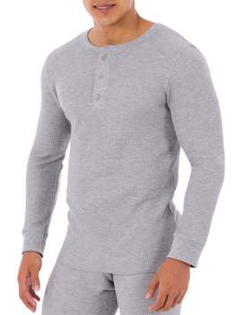 Fruit Of The Loom Men's Waffle Baselayer Henley Thermal Top by Fruit Of The Loom