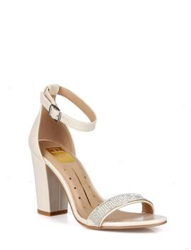 Fahrenheit Two Piece Women's High Heel Sandals In Nude by Fahrenheit