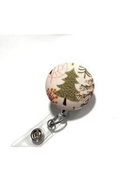 Christmas Tree Holiday  Badge Reel With The Option Of Interchangeable Covers by Etsy