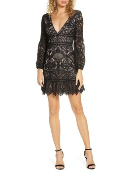 That's Deep Long Sleeve Lace Sheath Dress by Bb Dakota