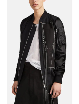 Wool & Satin Bomber Jacket by Rick Owens