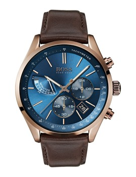 Grand Prix Chronograph Leather Strap Watch, 44mm by Boss