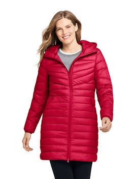 Women's Petite Ultralight Packable Long Down Coat by Lands' End