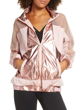 Metallic & Mesh Jacket by Beach Riot