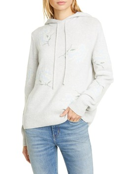 Floral Intarsia Hooded Sweater by La Vie Rebecca Taylor