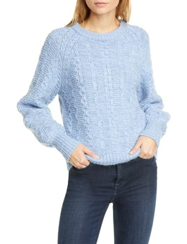 Cable Crewneck Sweater by La Vie Rebecca Taylor