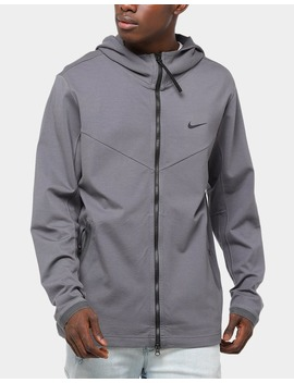 Nike Sportswear Hooded Full Zip Jacket Dark Grey/Black by Nike