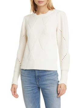Basket Weave Crewneck Sweater by Rebecca Taylor