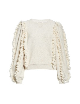 Sage Fringe Sleeve Sweatshirt by Ulla Johnson