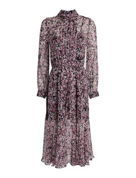 Selena Silk Floral Pleated Dress by Intermix