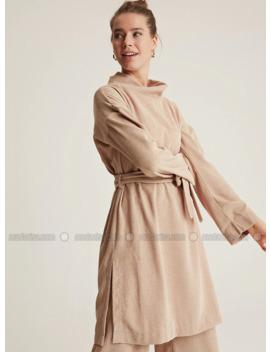 Beige   Unlined   Suit by Modanisa