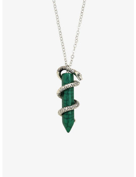 Harry Potter Slytherin Crystal Necklace by Hot Topic