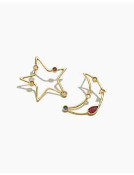 Finespun Moon And Star Earrings by Madewell