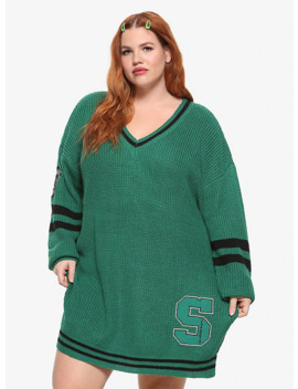Harry Potter Slytherin Sweater Dress Plus Size by Hot Topic