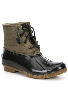 Women's Saltwater Chevron Quilt Nylon Winter Duck Boots by Sperry