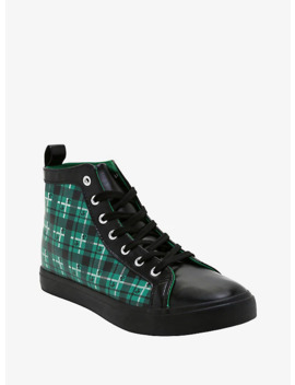 Harry Potter Slytherin Plaid Hi Top Sneakers by Hot Topic