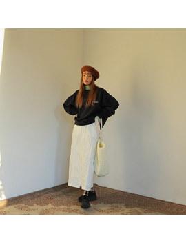 Two Way Zip Long Skirt by Stylenanda