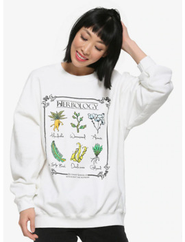 Harry Potter Herbology Chart Women's Crewneck Sweater   Box Lunch Exclusive by Box Lunch