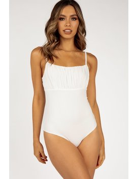 True Romance White Maiden Bodysuit by Dissh