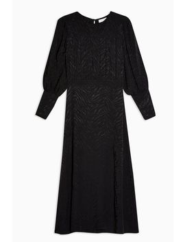 Black Jacquard Midi Dress by Topshop
