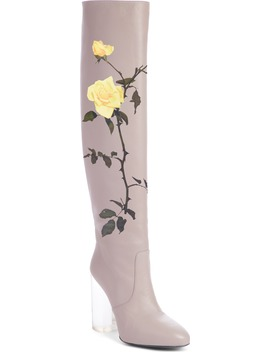 Floral Over The Knee Boot by Dries Van Noten