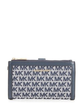 Jet Set Signature Double Zip Wristlet by Michael Michael Kors