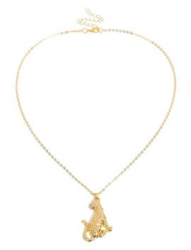 American European Leopard Shape Metal Necklace   Gold by Zaful