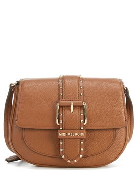 Lillian Buckle Leather Small Crossbody Bag by Michael Michael Kors