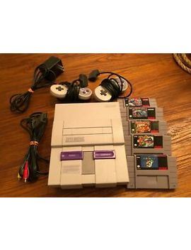Super Nintendo Entertainment System Snes Classic Edition And 5 Games by Nintendo