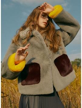 [Frontrow X Maisonmarais] Color Block Ecofur Jacket by Frontrow