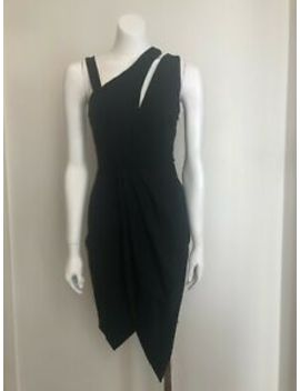 Finders Black Bodycon Dress With Shoulder Cut Out And Asymmetrical Hem Size Xs by Finders Keepers