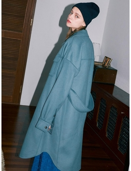 Oversize Wool Shirt Coat by Frontrow