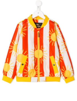 Sun And Striped Print Bomber Jacket by Mini Rodini