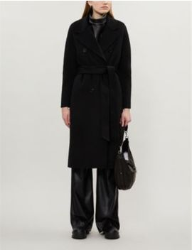 Maddison Tie Belt Wool Blend Coat by Allsaints