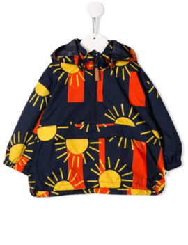Sun Print Striped Hoodie by Mini Rodini