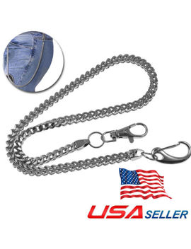 "23"" Strong Thick Twist Biker Trucker Keychain Key Jean Wallet Chain Metal Sliver by Unbranded"