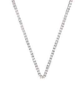 The Ballier Necklace In Silver by Luv Aj
